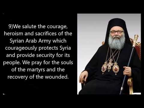 Most Holy Orthodox Patriarchate of Antioch condemns US/NATO aggression against Syria