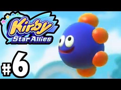 Kirby Star Allies - 2 Player Co-Op! - Switch Gameplay Walkthrough PART 6: Gooey VS Francisca Boss