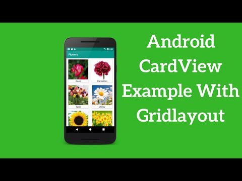 Android CardView Example With Gridlayout (Demo)