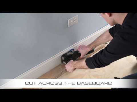 How To Flush Cut Baseboard with Dremel US40 Ultra-Saw