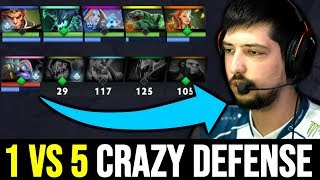 W33 Tinker Very Try Hard Game - 1v5 Crazy Defense 7.22 Dota 2