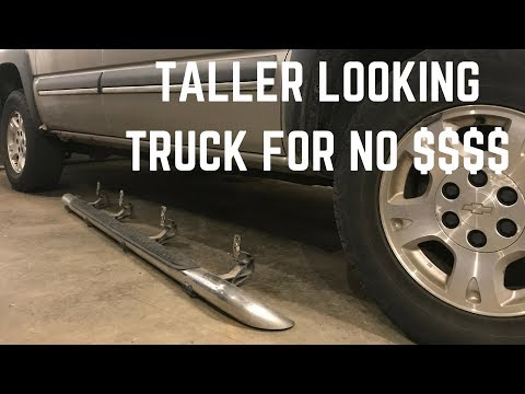Remove Your Step Bars and Make Your Truck Look Taller!