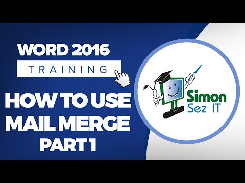 How to Use Mail Merge in Word 2016 - Part 1