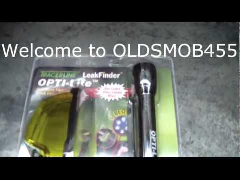 Using UV Dye to help find a oil leak