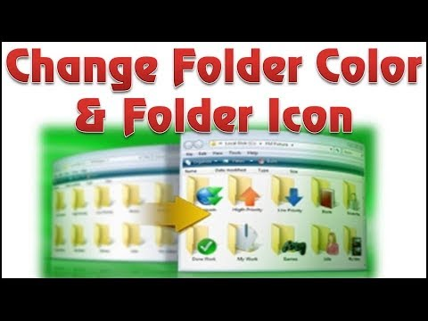 How to change folder icon | Folder color changer | Icon changer | Icon color changer