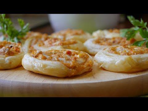 PUFF PASTRY SWIRLS WITH TUNA FILLING