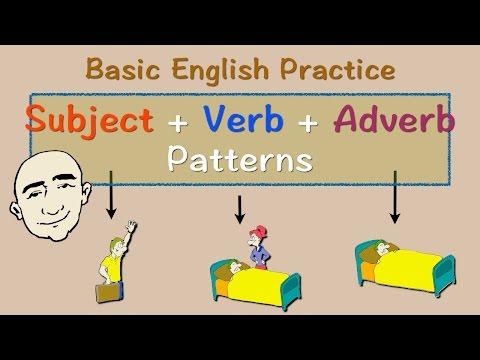 Subject + Verb + Adverb Pattern   English Speaking Practice   ESL   EFL