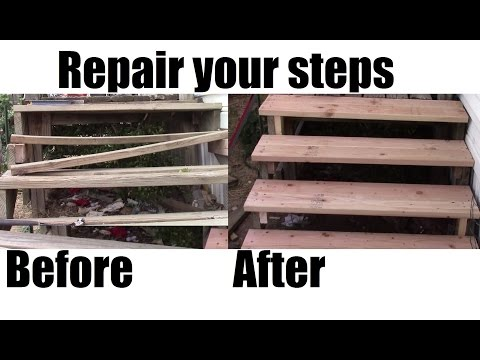 How to repair your porch steps DIY Home Depot materials