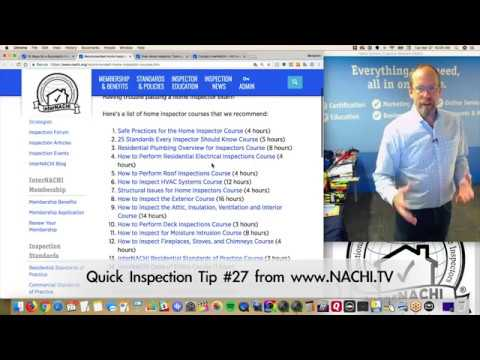 Home Inspection Tip #27:  Recommended List of Home Inspector Courses