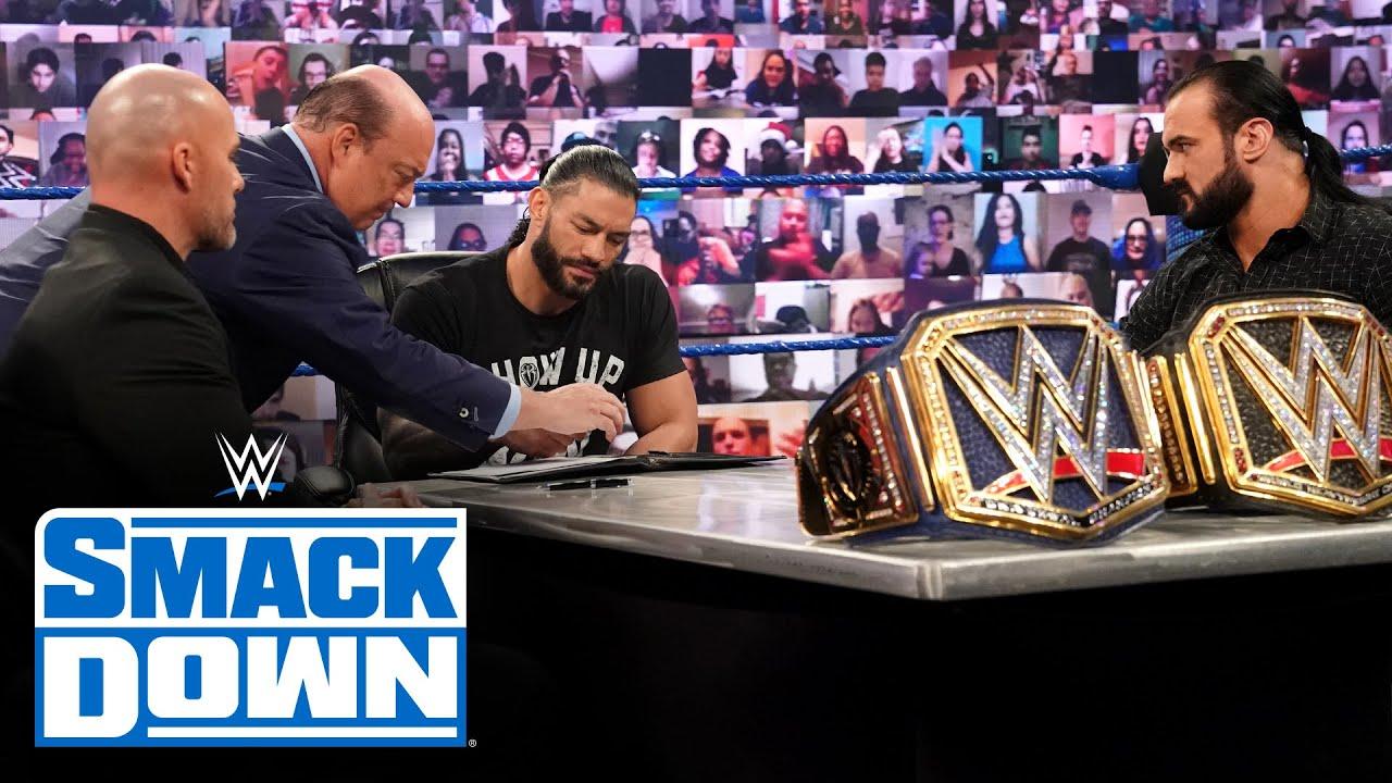 WWE Champion vs. Universal Champion contract signing: SmackDown, Nov. 20, 2020