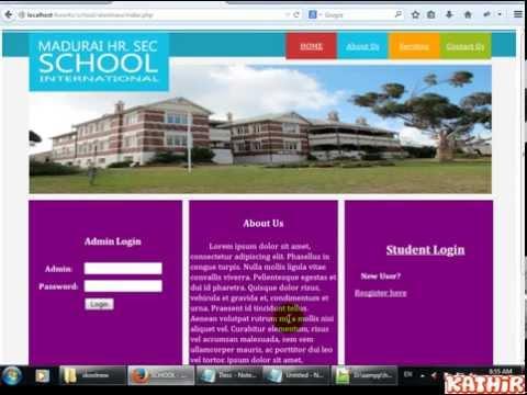 School Management System - PHP, MySql, CSS