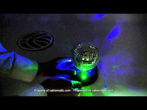 Rotating Disco Ball USB LED distribuito Cablematic ®