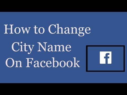 How to Change Loaction On Facebook | How to Change Your City Name On Facebook