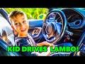 Download           WORLD RECORD!?? 9 YR OLD KID DRIVES LAMBORGHINI MANUAL!! MP3,3GP,MP4