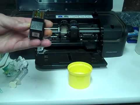 How To Refill HP 21 and 22 Ink Cartridges HP Deskjet D2460  - Part 1