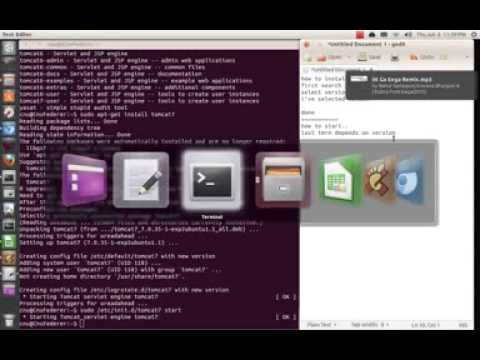 How to install and remove tomcat on Ubuntu