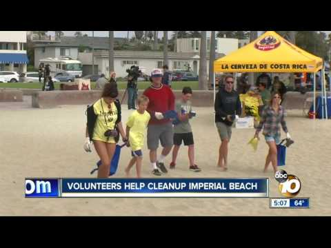 ABC 10 Features Imperial Beach Clean Up Event