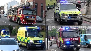 Fire Engines, Police Cars and Ambulances responding - Compilation 39