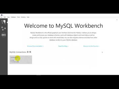 create connection using MySQL workbench and XAMPP