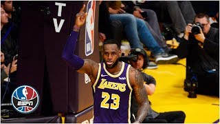 LeBron James passes Michael Jordan on all-time scoring list and gets emotional | NBA Highlights