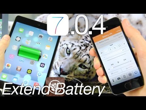 iOS 7 Increase Jailbreak Battery Life 7.0.4 Tips For iPhone 5S,5C 4S iPad, iPod Touch & Improvements