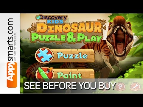 Discovery Kids Dinosaur Puzzle & Play by Cupcake Digital - video review/walkthrough