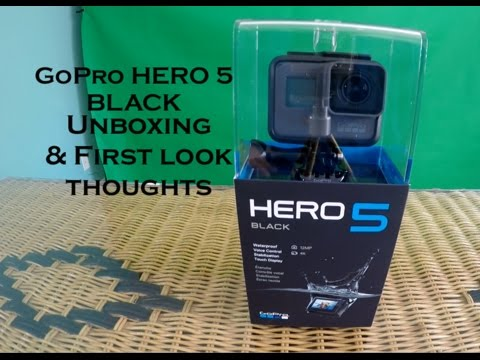 GoPro Hero 5 Unboxing and quick first look thoughts