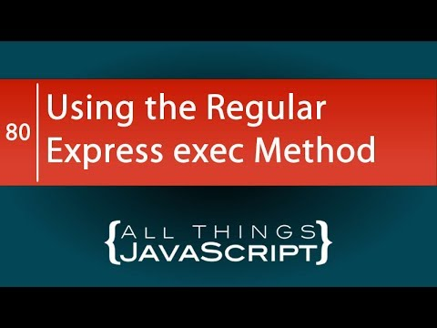 Using Regular Expressions exec Method to Split a String