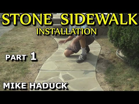 How I install a stone sidewalk (Part 1 of 3) Mike Haduck