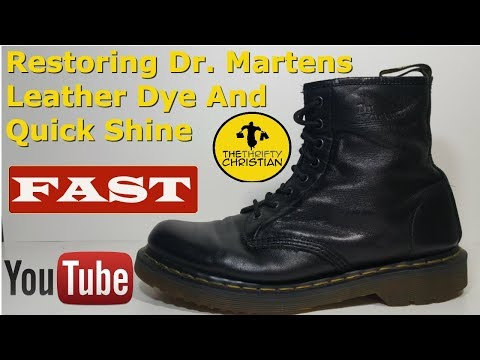 How to restore Dr. Marten boots