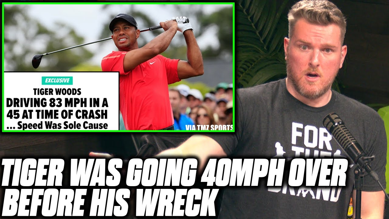 Pat McAfee Reacts To Tiger Woods' Crash Report Findings