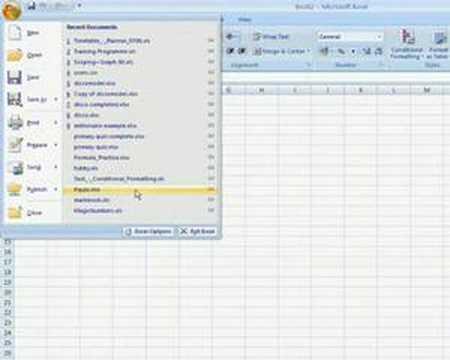 Excel 2007 - Developer Tab