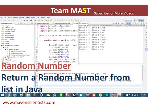 Return a Random item from a list in Java | Team MAST