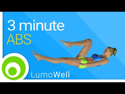 3 minute abs: How to get a six pack in 3 minutes