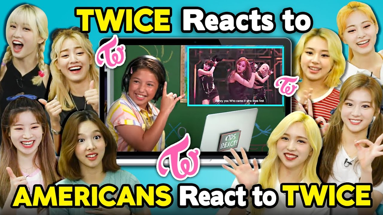 TWICE Reacts To Americans React To TWICE (K-Pop Reactception)