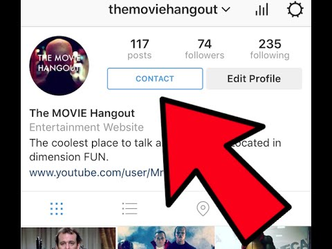 How to Put a Contact Button on Your Instagram Page