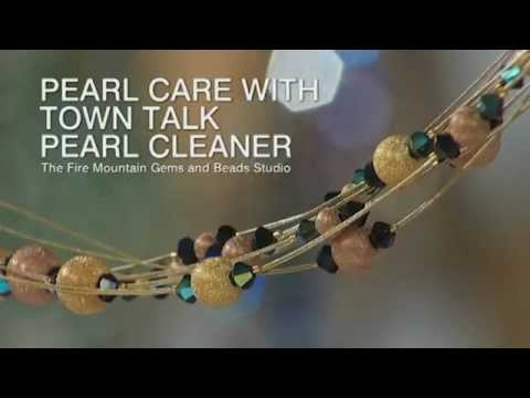 Pearl Care with Town Talk Pearl Cleaner