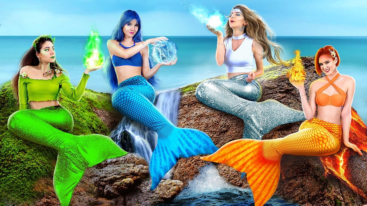Download Fire, Water, Air, and Earth Mermaids! / Four Elements at College! MP3 Gratis