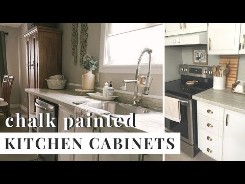 HOW TO CHALK PAINT Kitchen Cabinets  | heyjuliarae