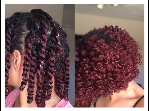 Two Strand Twist Out on Short/Medium Length Natural Hair