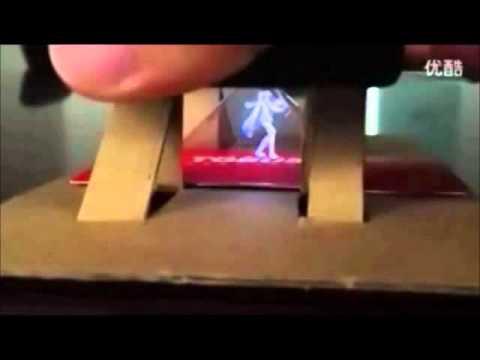 Holographic Siri (siri 2.0) - 3D hologram of a Japanese Dancing cartoon character - iPhone 5
