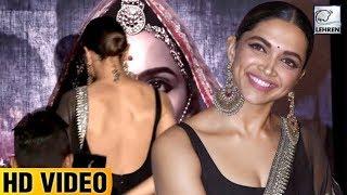 Deepika Padukone's BACKLESS  Dress At Padmaavat 3D Trailer Launch    LehrenTV