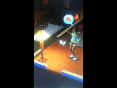 Sim flirting with a lamp - sims 4