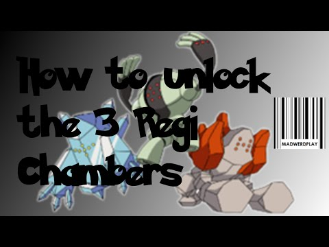How to unlock the 3 Chambers. Legendary Regi Guide Part 1 Pokemon ORAS