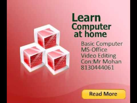 learn Basic computer at home con:8130444061