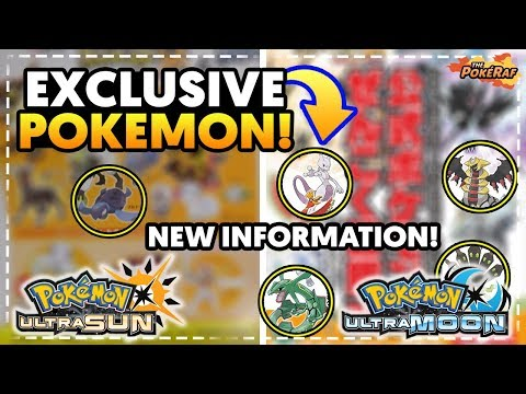 VERSION EXCLUSIVE POKEMON, LEGENDARY ENCOUNTERS AND MORE! - Pokémon Ultra Sun and Ultra Moon