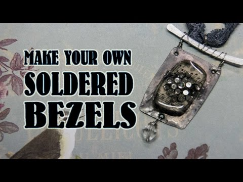 Make your own Jewelry Bezels - 5 easy Steps!