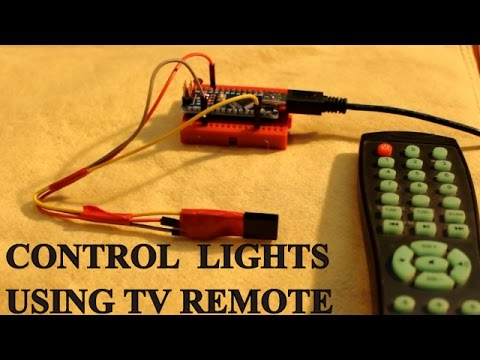 Control your room lights and fan using TV remote