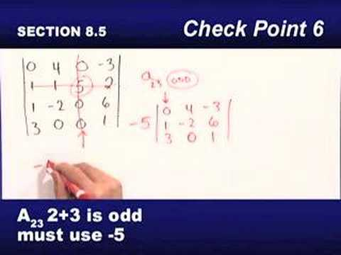 Finding the Determinant of a 4 by 4 Matrix