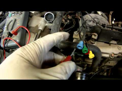 Test injector resistance on a 7.3 liter Ford Powerstroke